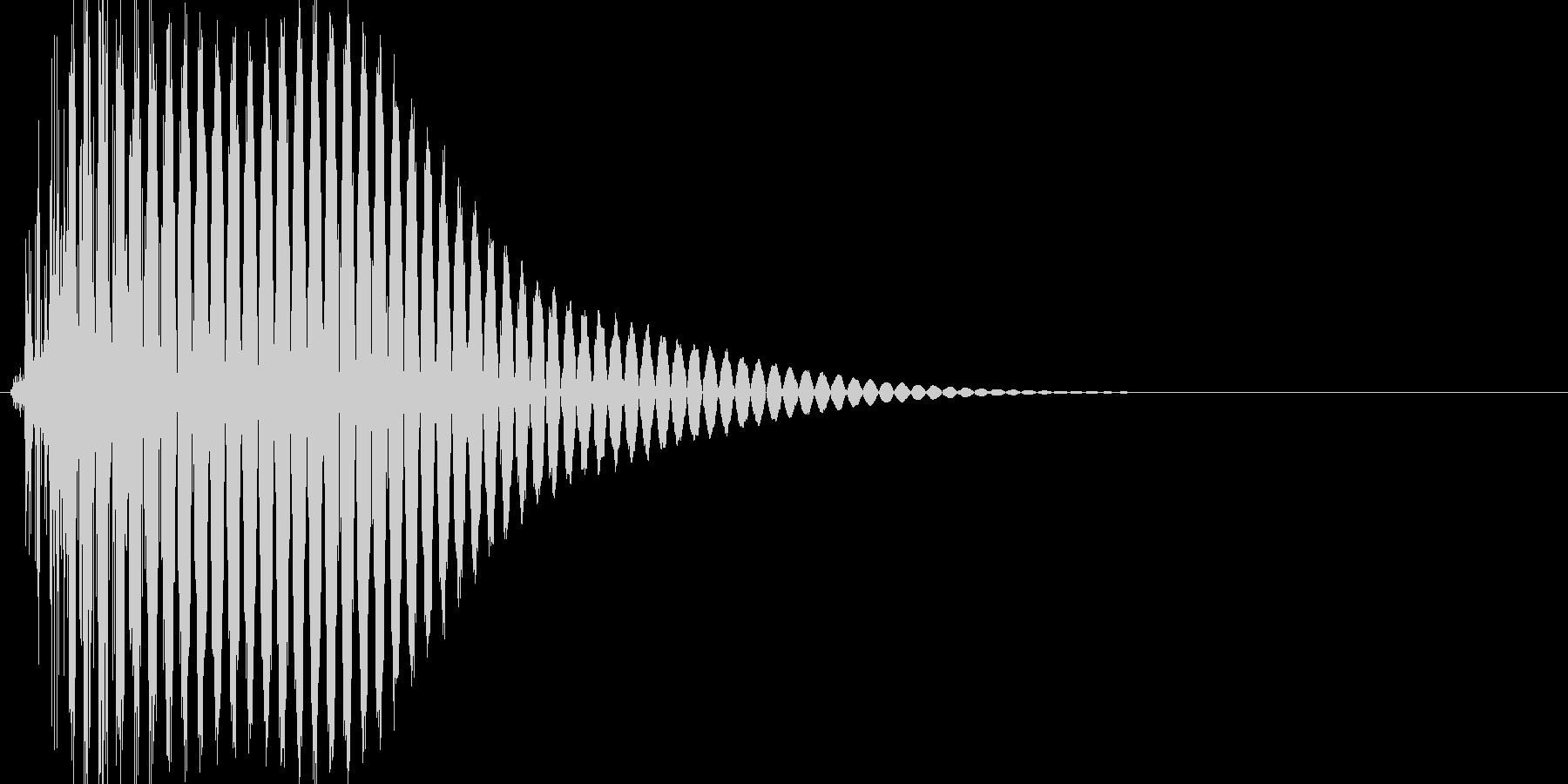 ボタン・カーソル・操作音 「ポッ」の未再生の波形
