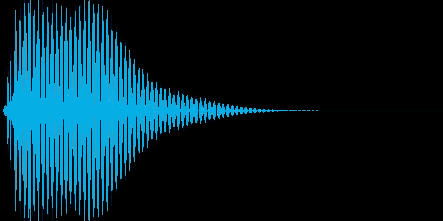 ボタン・カーソル・操作音 「ポッ」の再生済みの波形