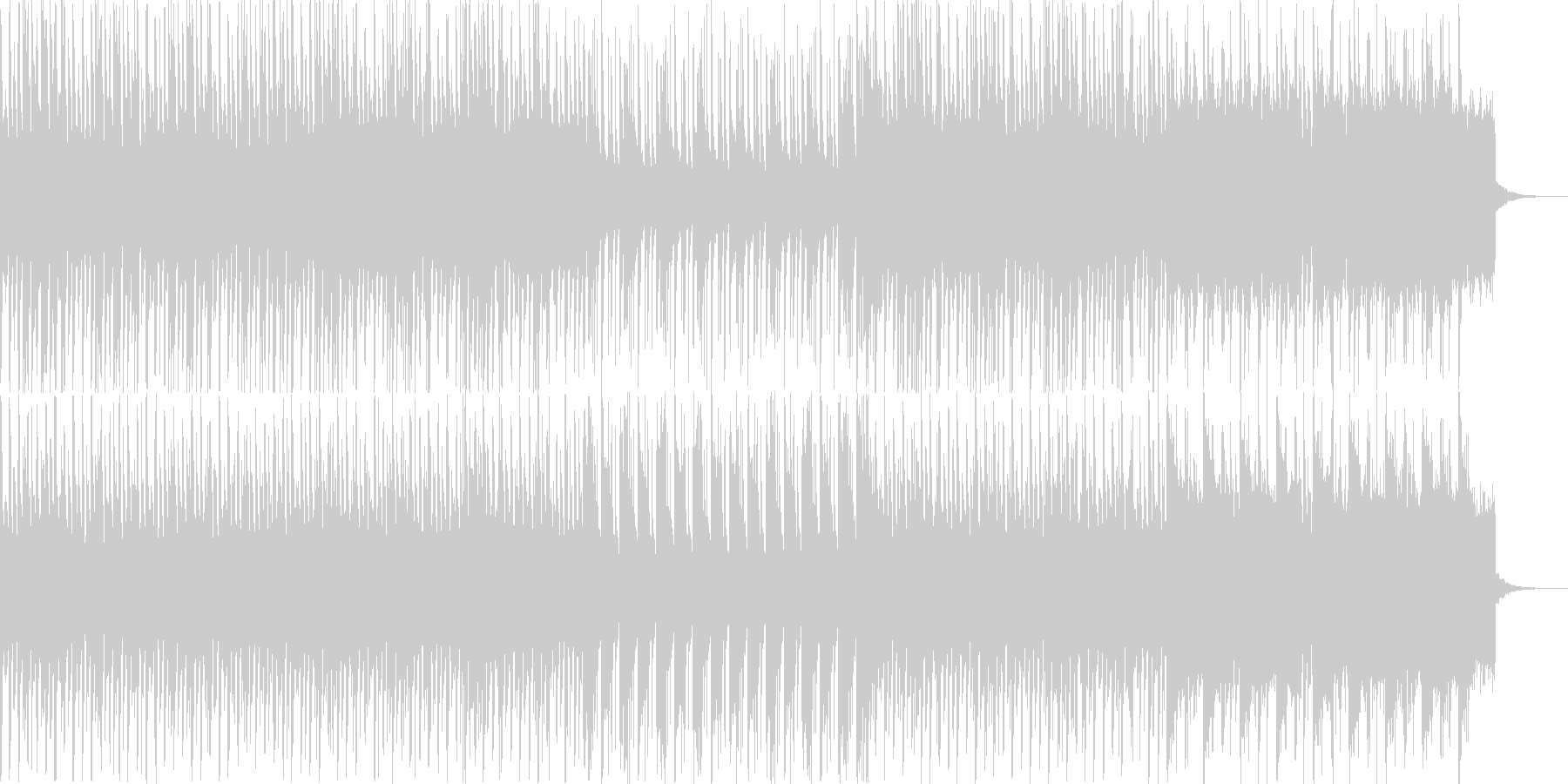 わくわくする雰囲気のエレクトロなポップスの未再生の波形