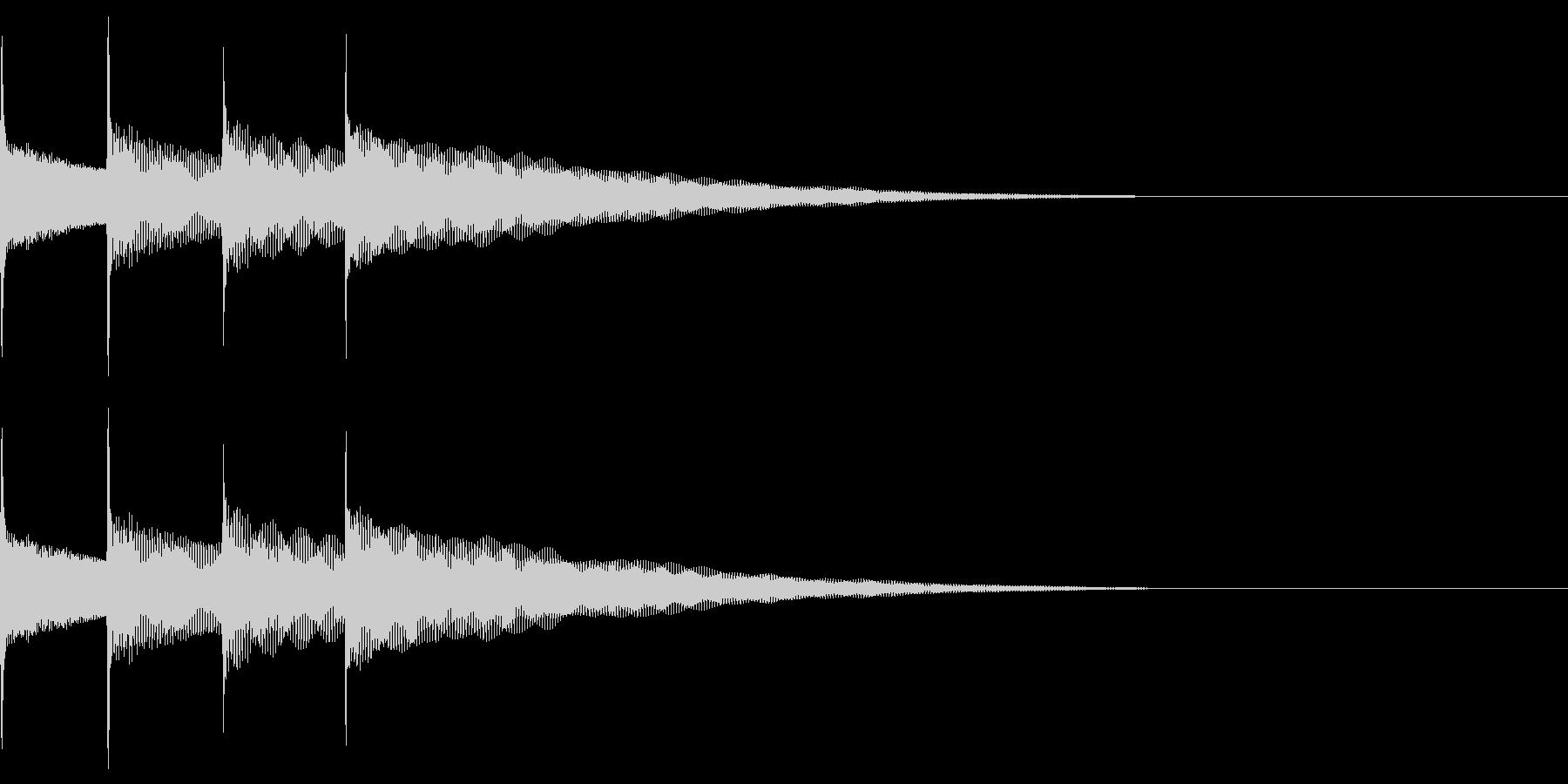 お知らせ音03(ピンポンパンポン)上昇Aの未再生の波形