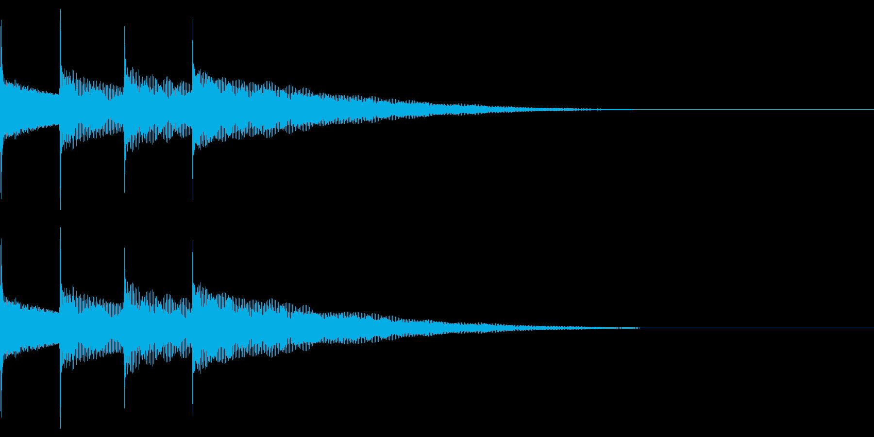 お知らせ音03(ピンポンパンポン)上昇Aの再生済みの波形