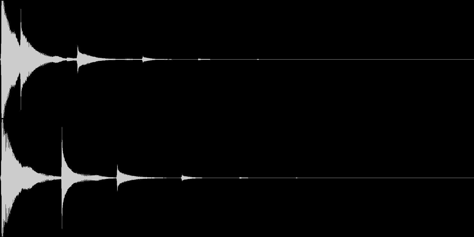RPG 毒・麻痺攻撃のSE ビヨビヨ 3の未再生の波形