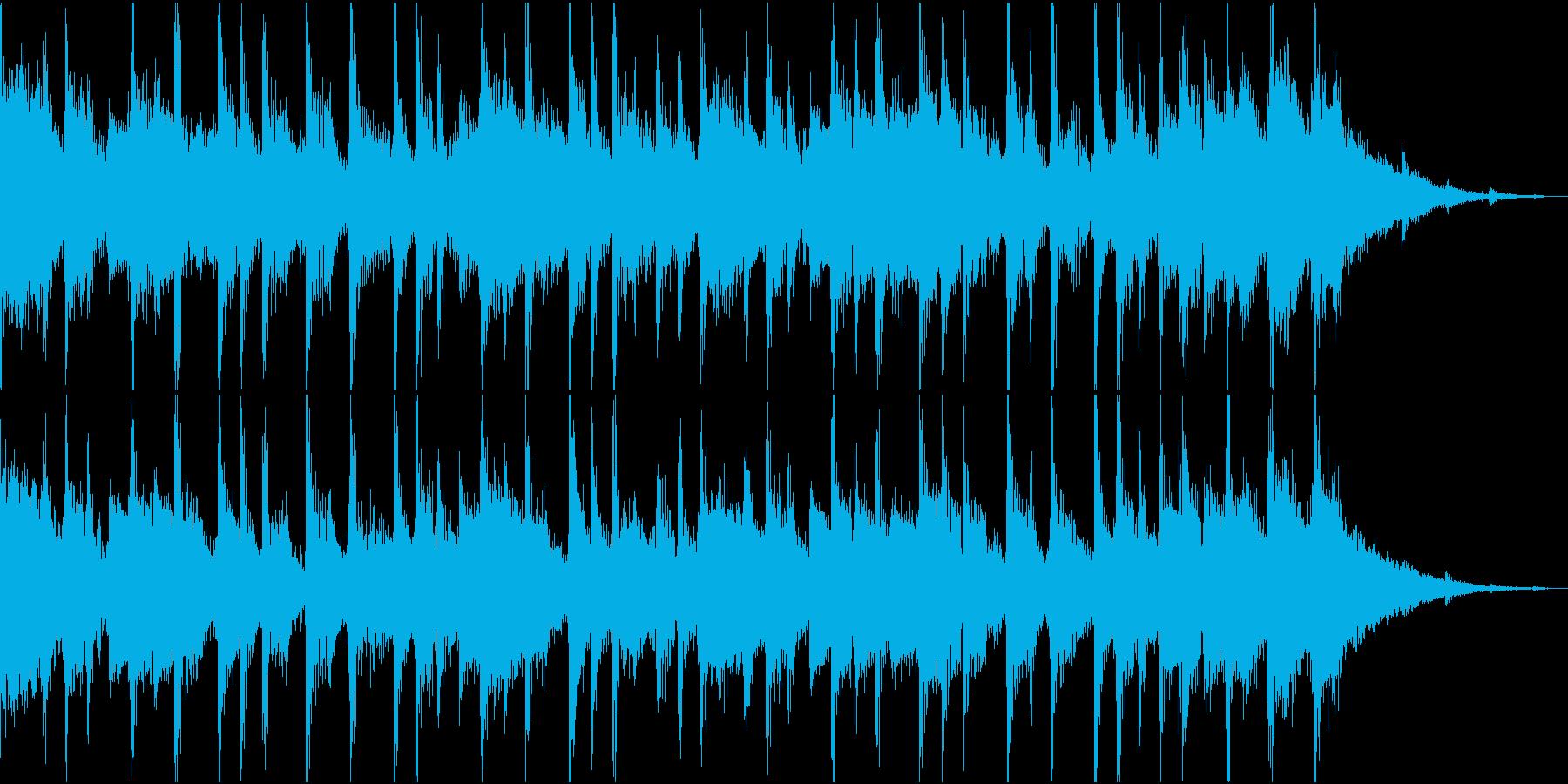 明るいジングルの再生済みの波形