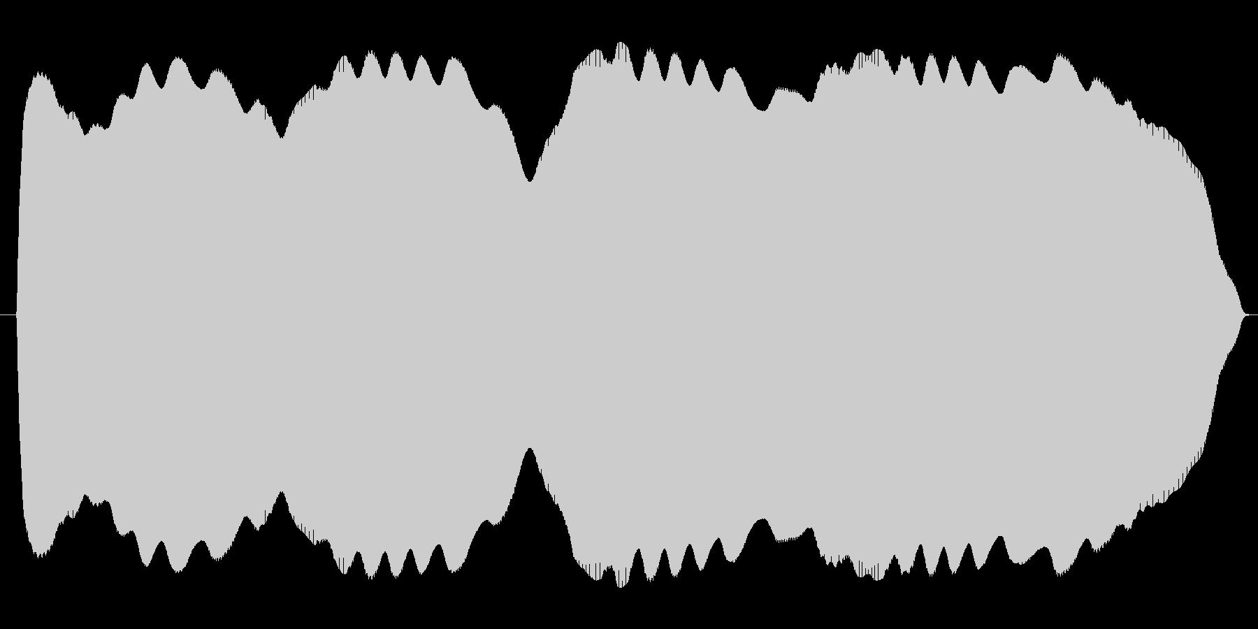 ブワンブワンまわるテルミンの未再生の波形