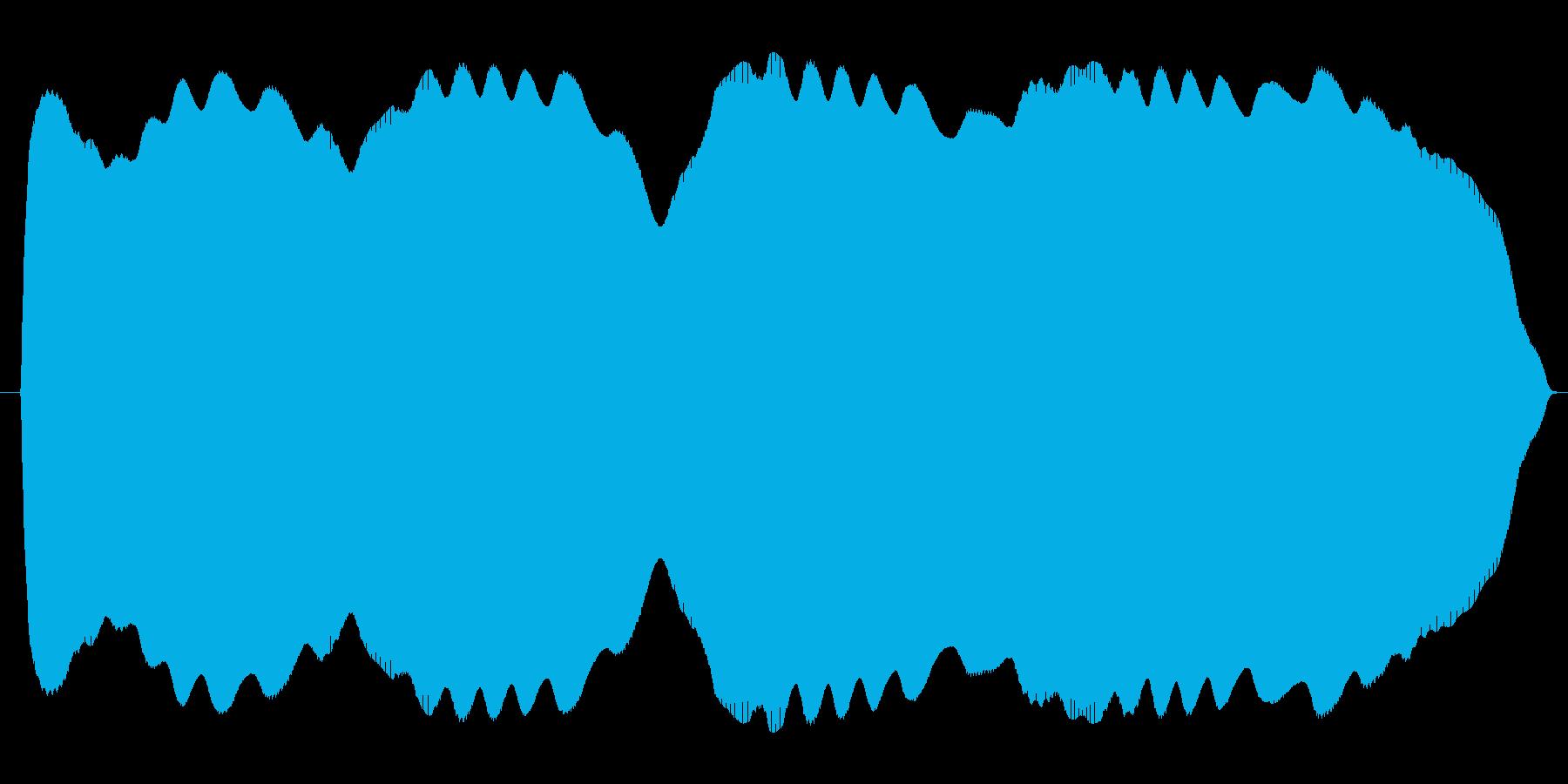 ブワンブワンまわるテルミンの再生済みの波形