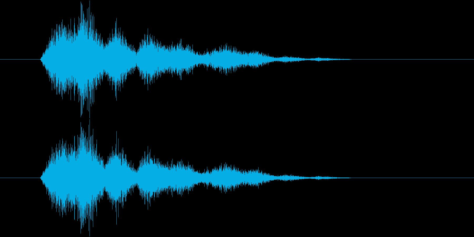 シャラシャシャシャ(スナック菓子の袋)の再生済みの波形