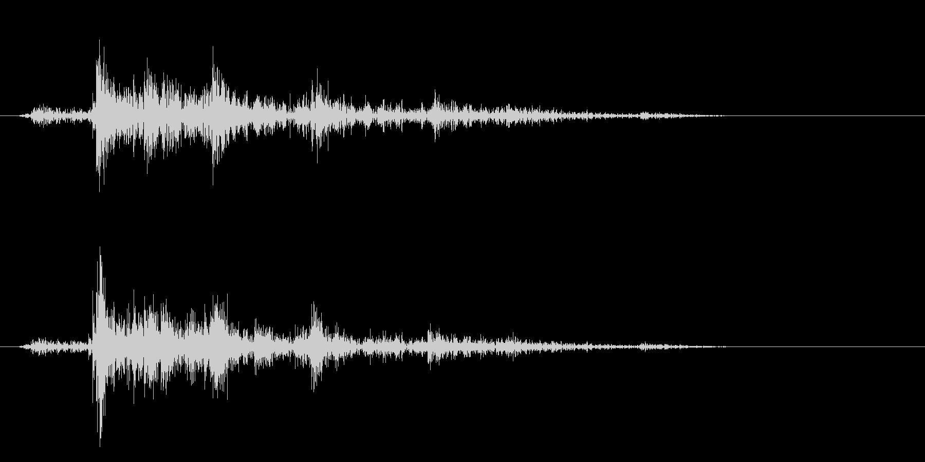 カシャン(セット音)の未再生の波形