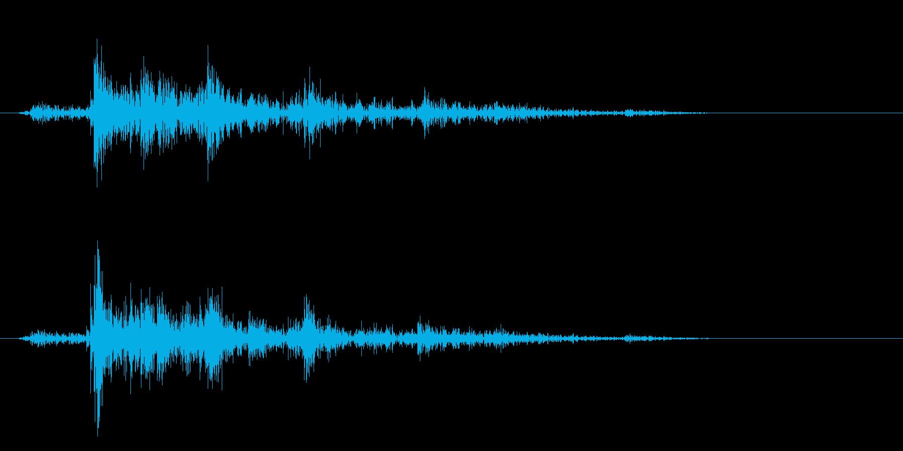 カシャン(セット音)の再生済みの波形