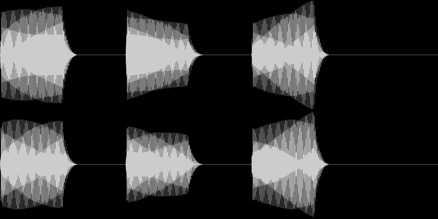 車 自動運転技術でのカーナビ警告音1の未再生の波形