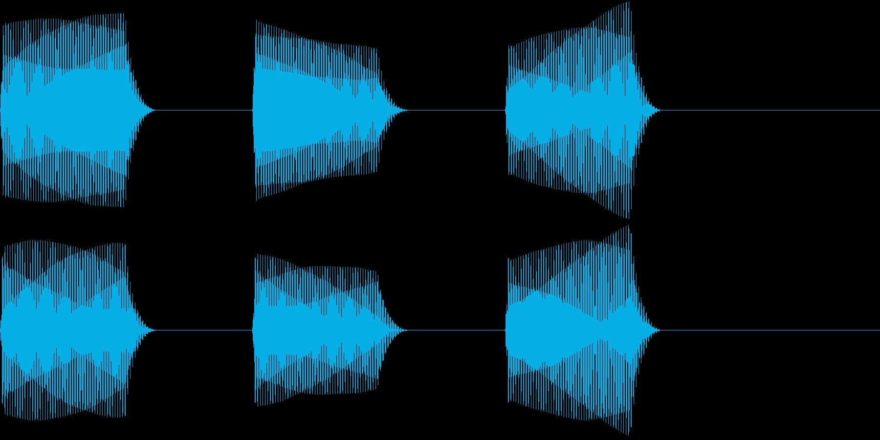 車 自動運転技術でのカーナビ警告音1の再生済みの波形