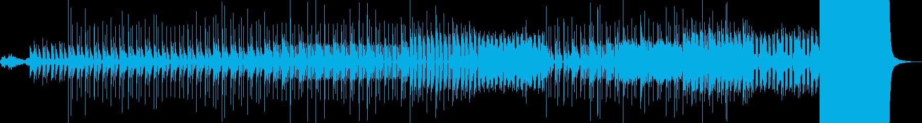 水のような浮遊感のある電子音楽の再生済みの波形