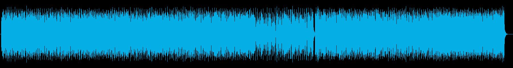 疾走感とワクワク感シンセサイザーサウンドの再生済みの波形