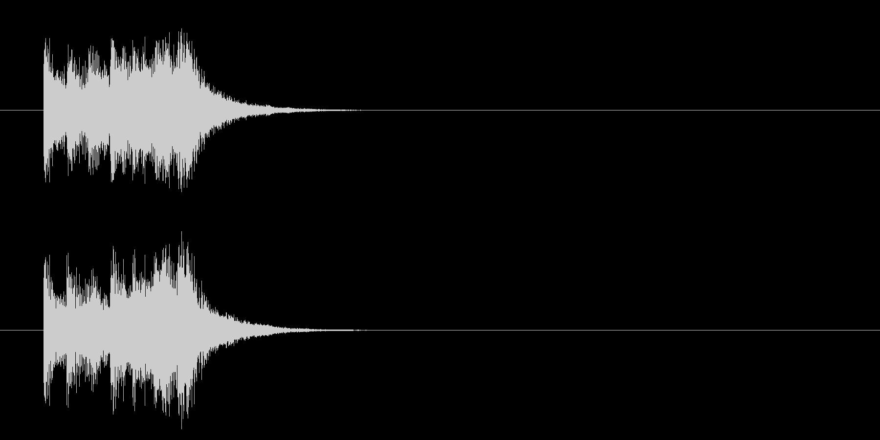 コーナーアタック風軽いポップスのジングルの未再生の波形