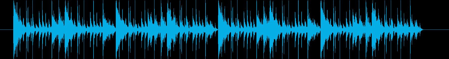 和風系おもしろ系ゲームのメニュー画面の再生済みの波形