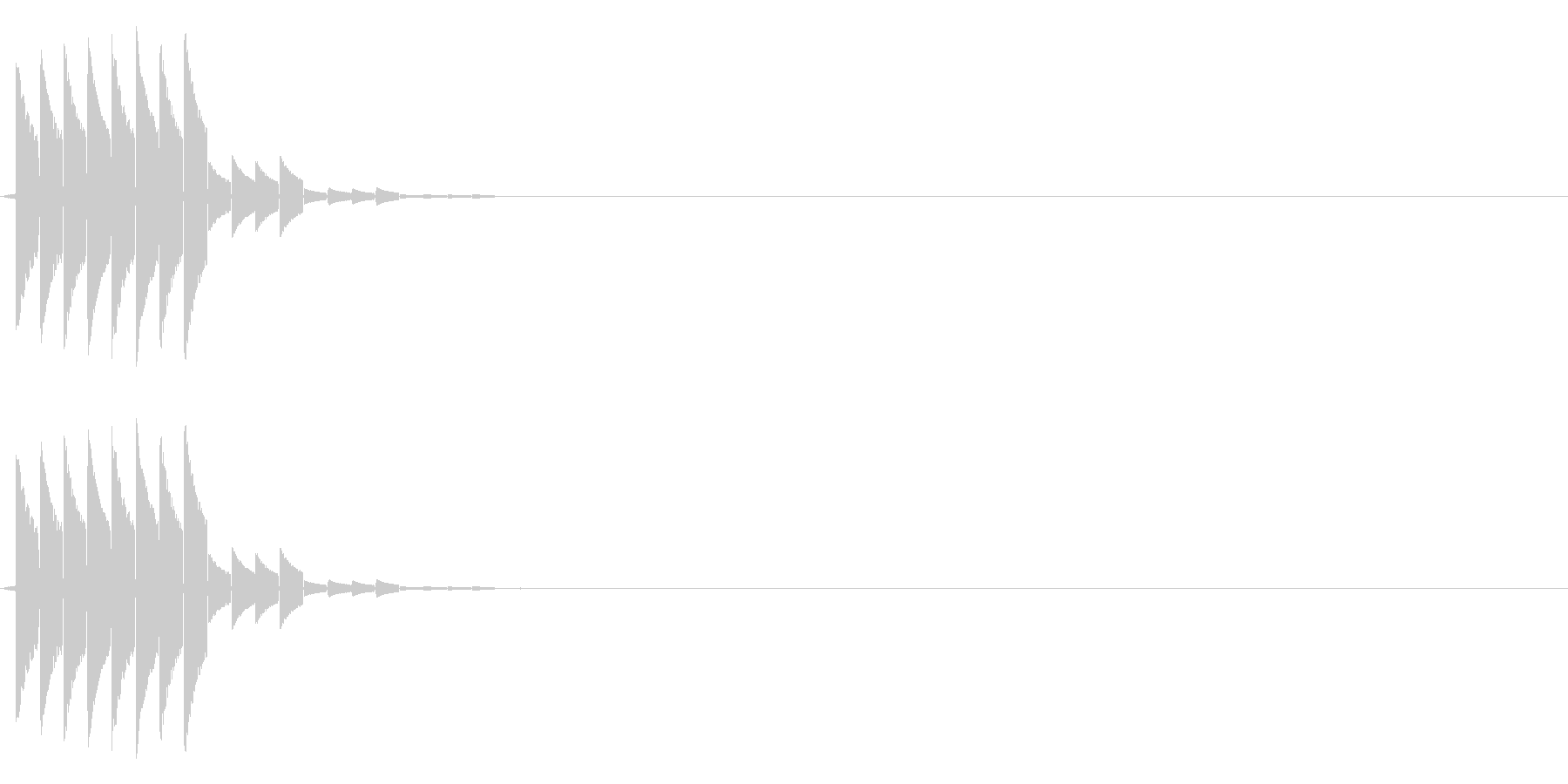 決定や場面転換などに(ゲーム)の未再生の波形