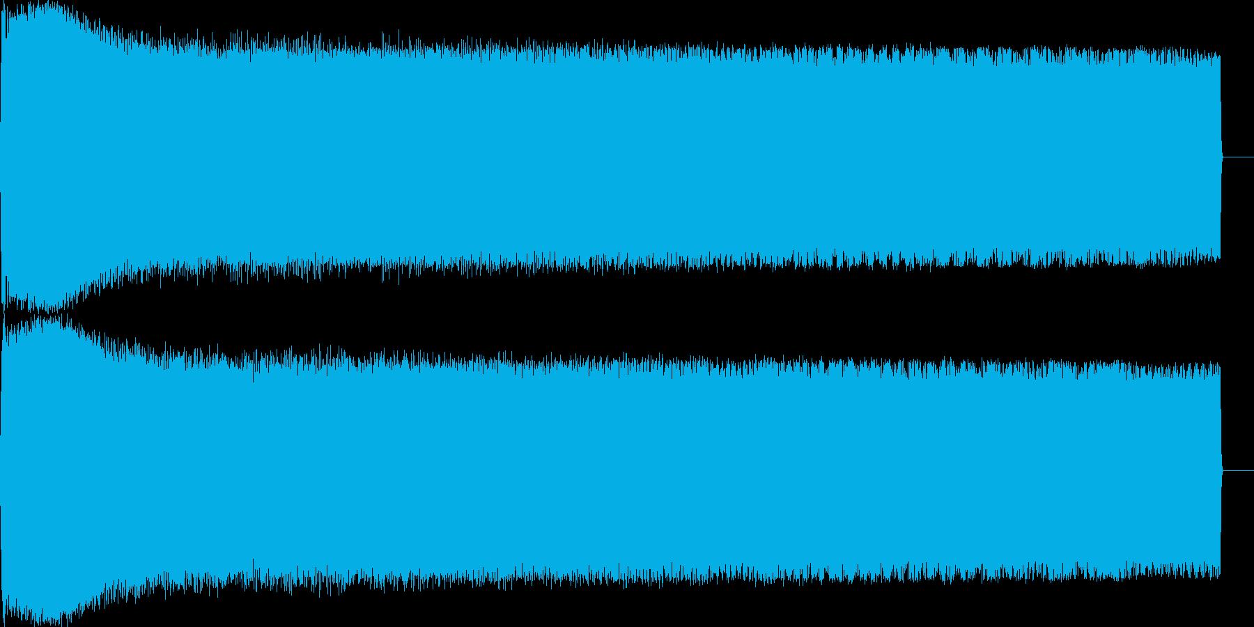 サイレン 低音 ループ可音源の再生済みの波形