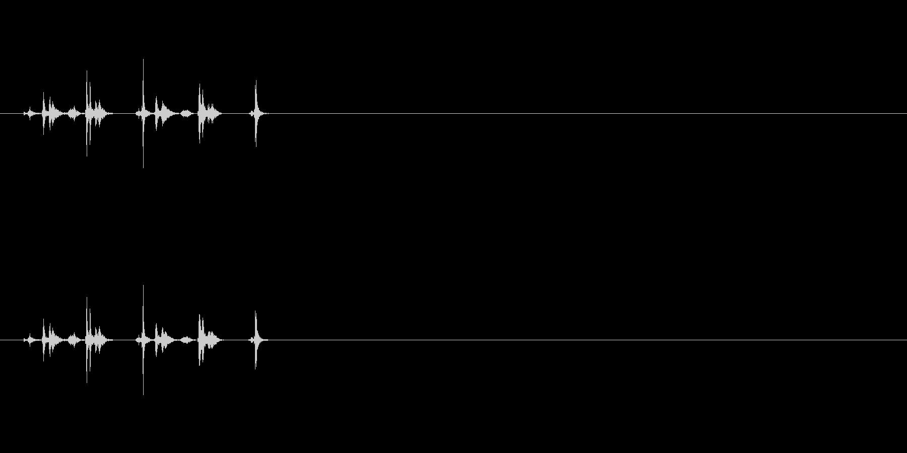 シャッター音03(2連写)Var2-4の未再生の波形