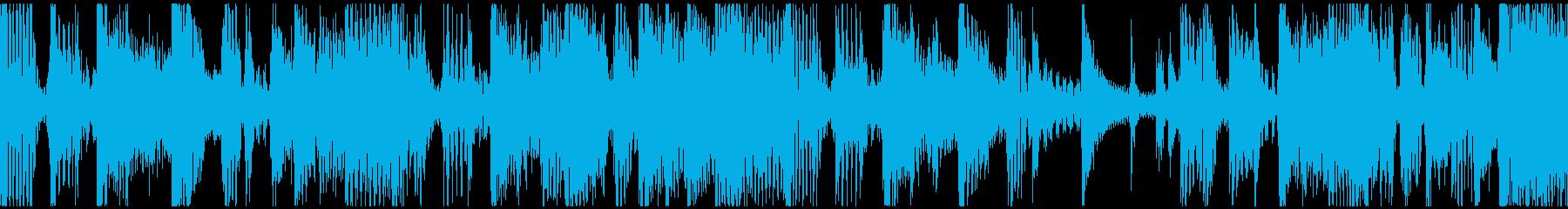 ループ。ギターカッティング。70年代風。の再生済みの波形