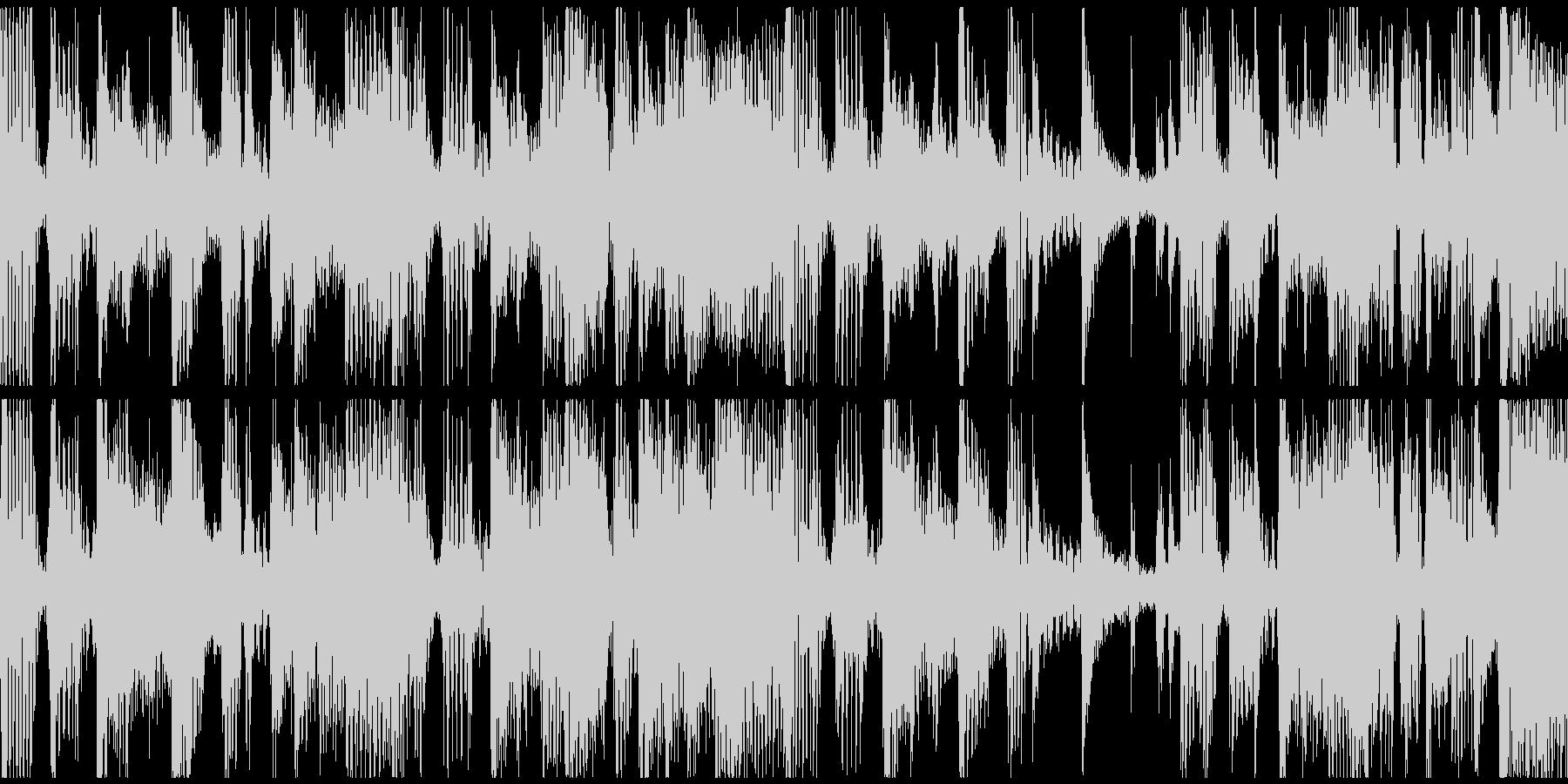 ループ。ギターカッティング。70年代風。の未再生の波形