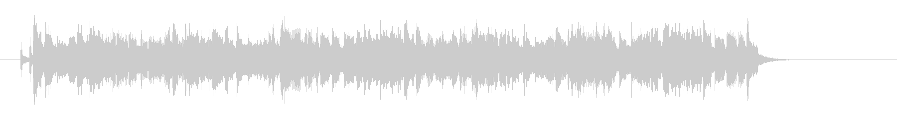 爽かなポップスのジングル曲、サウンドロゴの未再生の波形