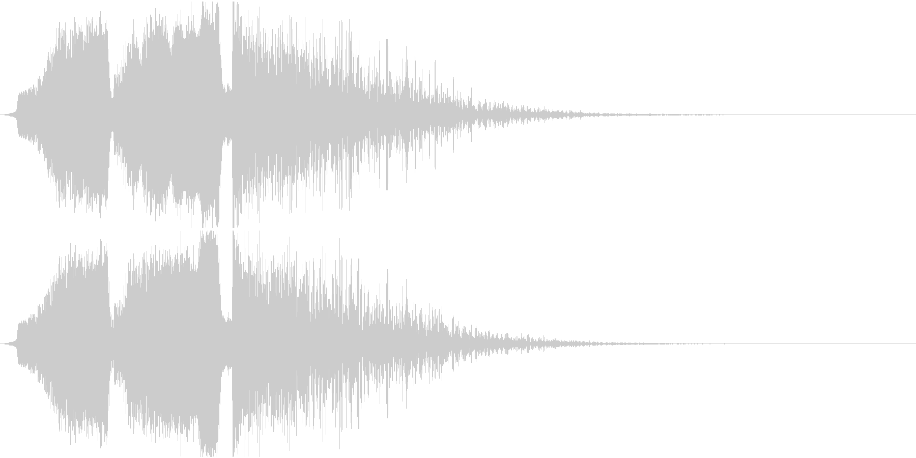 シュインシュインドーン 爆発音の未再生の波形