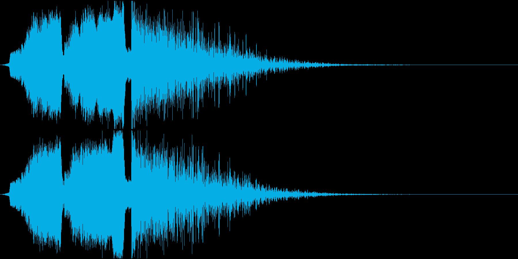 シュインシュインドーン 爆発音の再生済みの波形