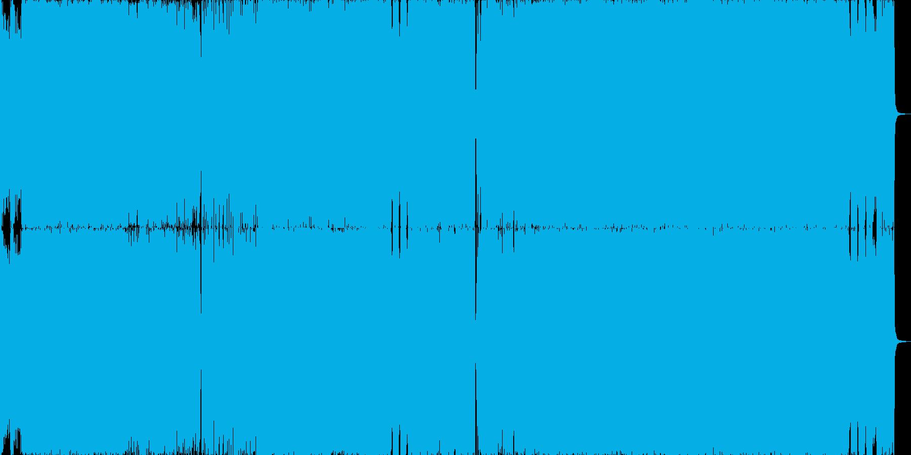 シリアス・クールなロックギターインストの再生済みの波形