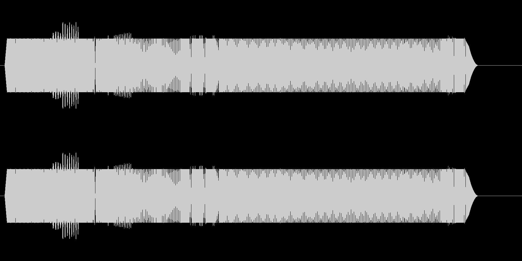 ウィーーン、と低く響く電子音の未再生の波形