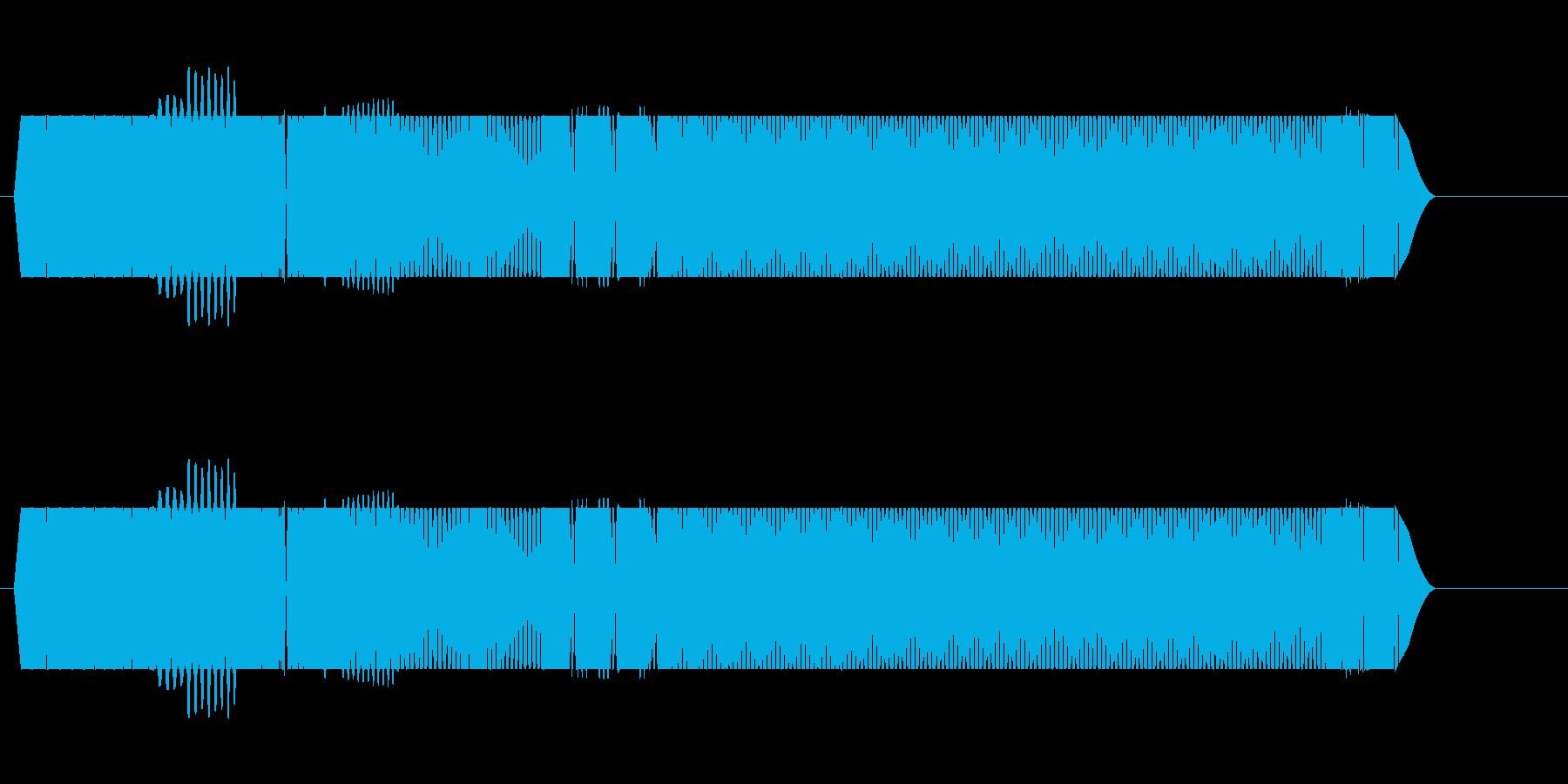 ウィーーン、と低く響く電子音の再生済みの波形