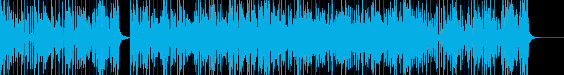 グルーヴ感のあるファンク・ミュージックの再生済みの波形