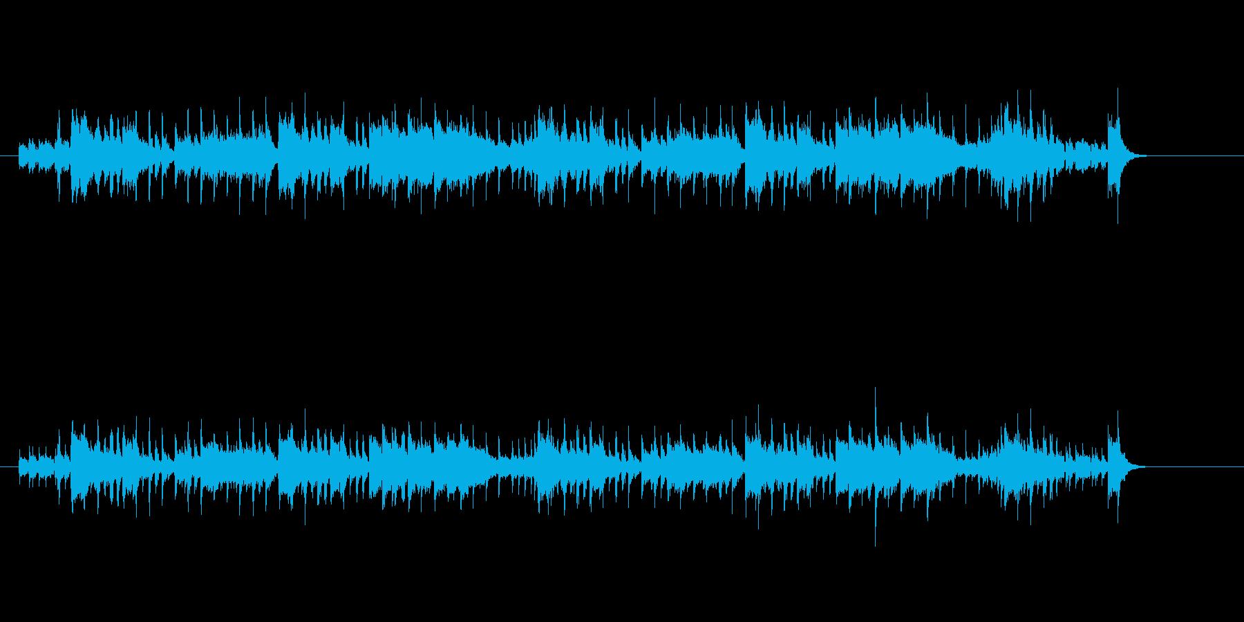 コミカルな明るいフュージョンの再生済みの波形