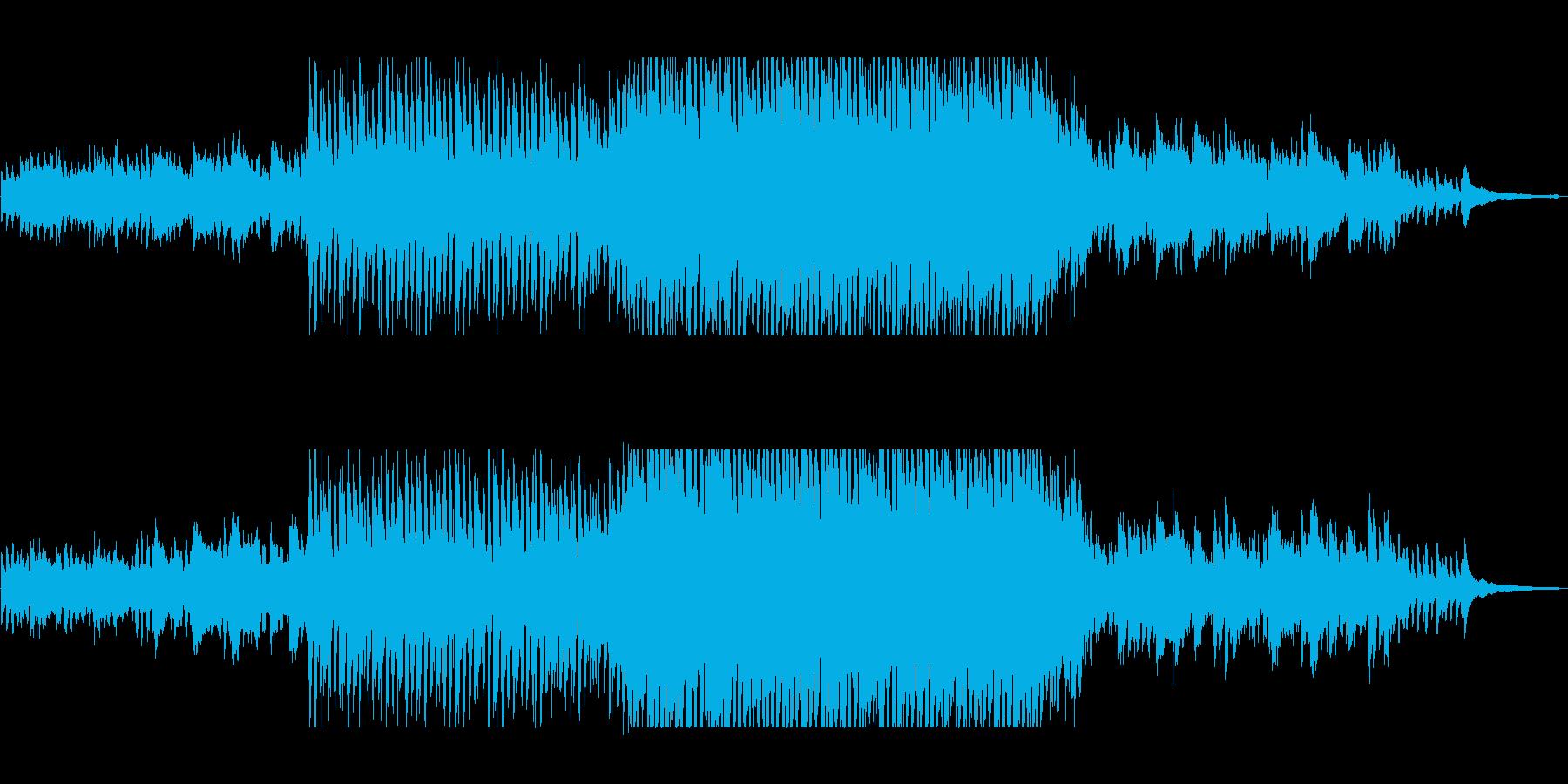 幻想的な光に包まれるピアノミュージックの再生済みの波形