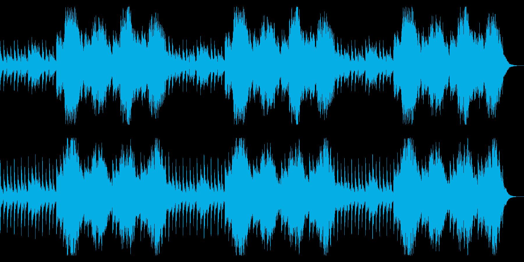 コーラスとピアノ 心霊系、怖いシーン向けの再生済みの波形