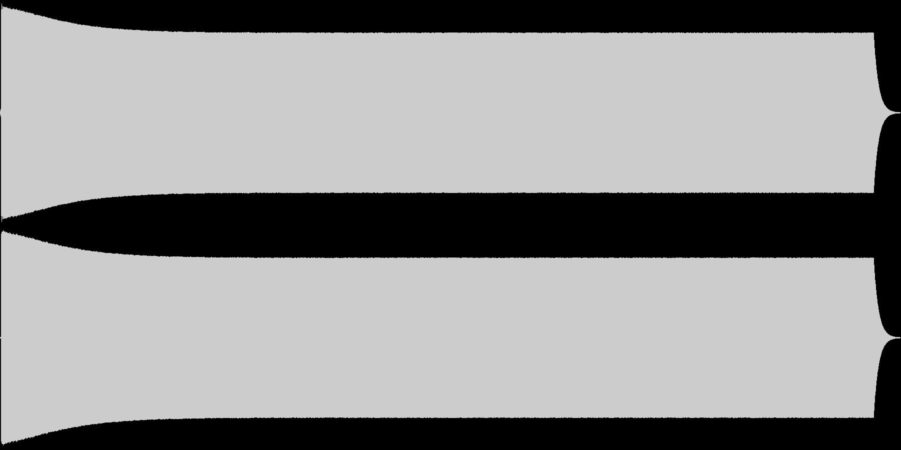 ピーィィ。放送禁止・自主規制音(高・長)の未再生の波形