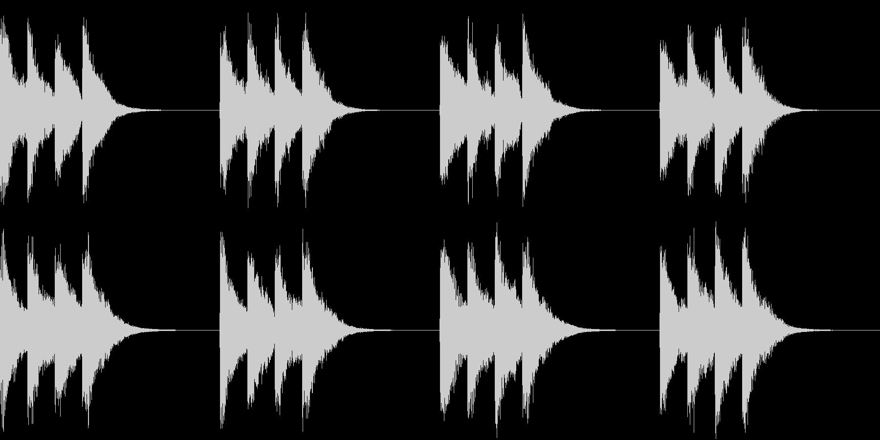 シンプル ベル 着信音 チャイム A-8の未再生の波形