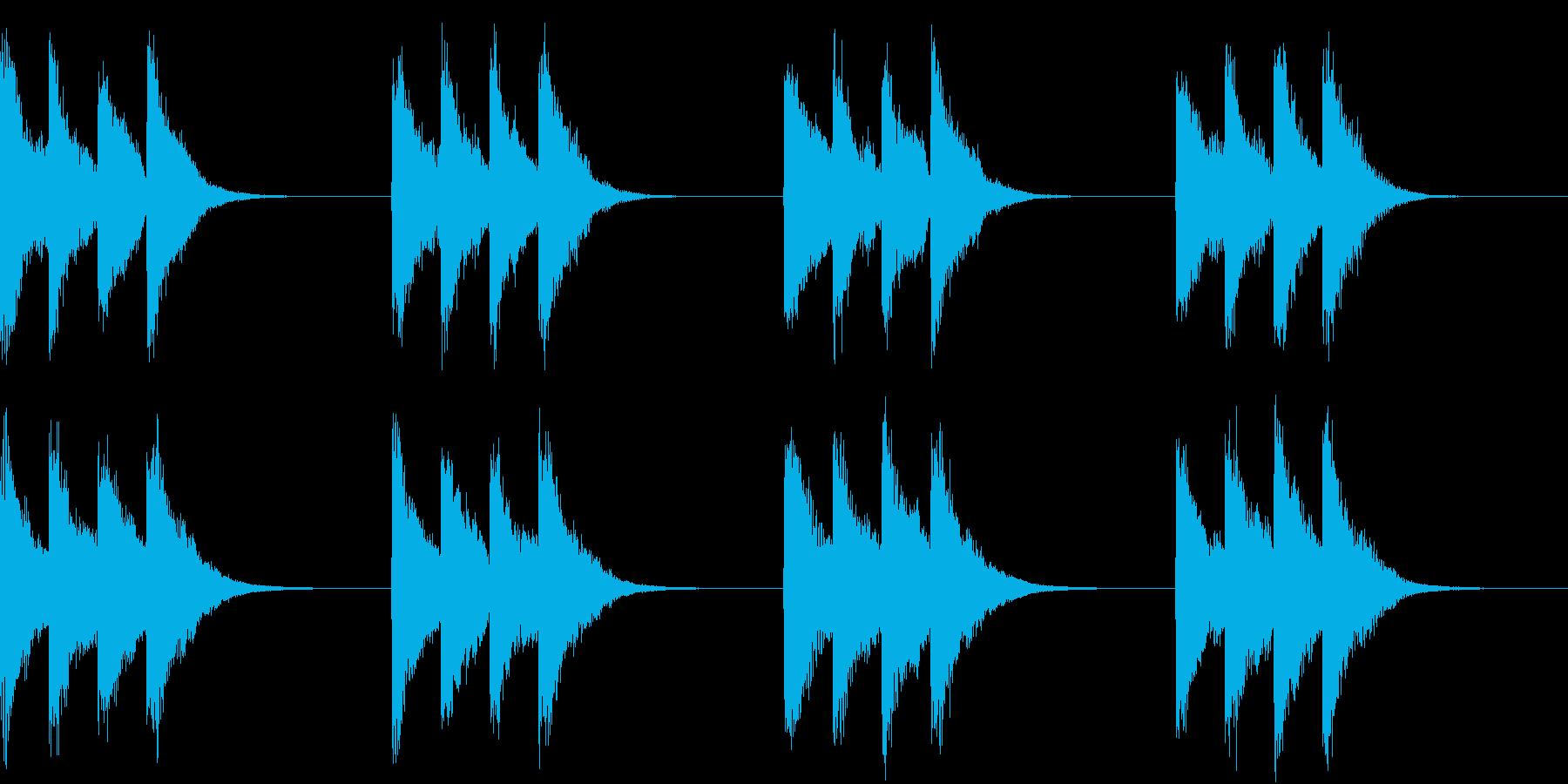 シンプル ベル 着信音 チャイム A-8の再生済みの波形
