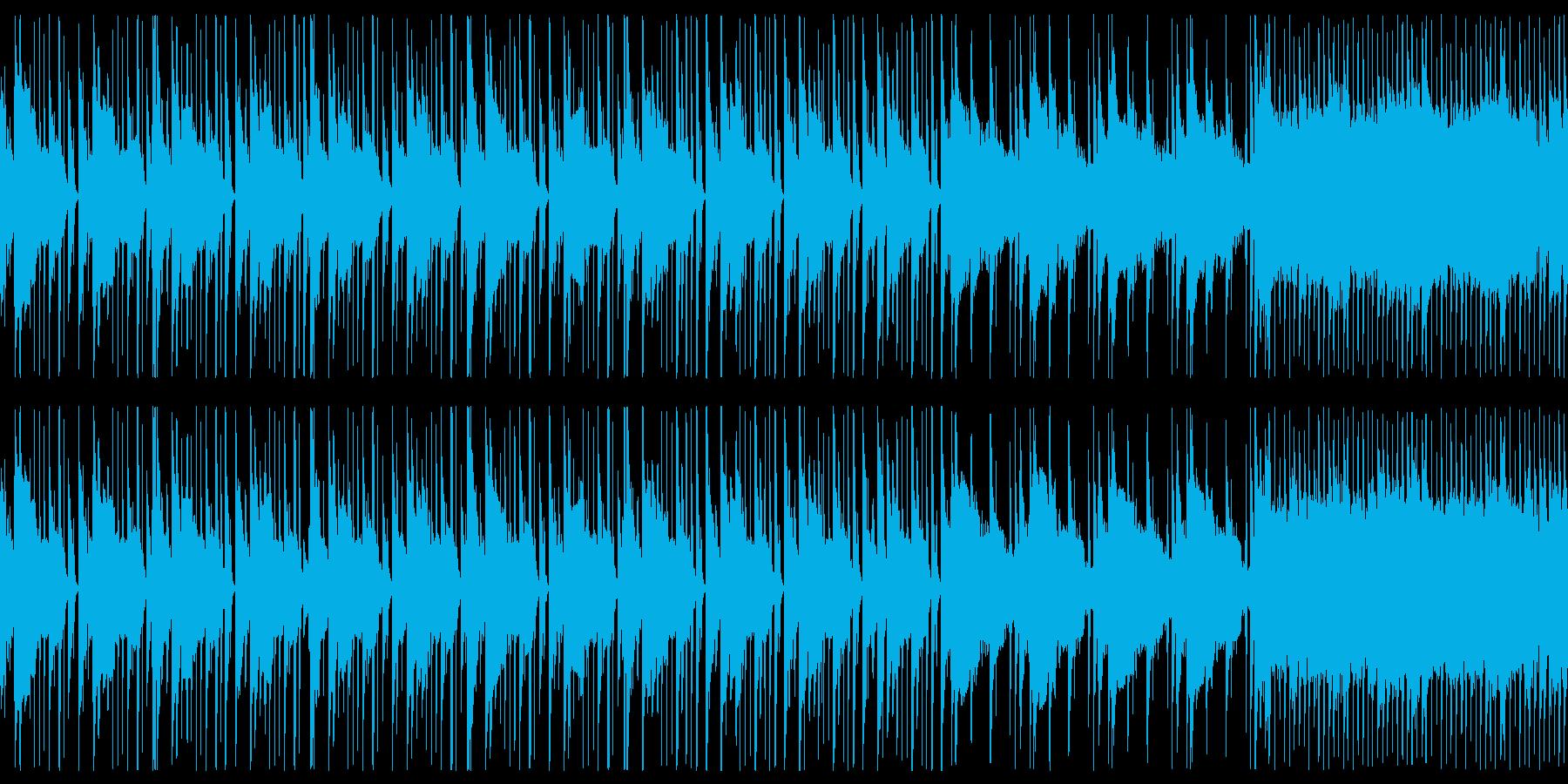 ヒップホップのバッキングトラック風ループの再生済みの波形