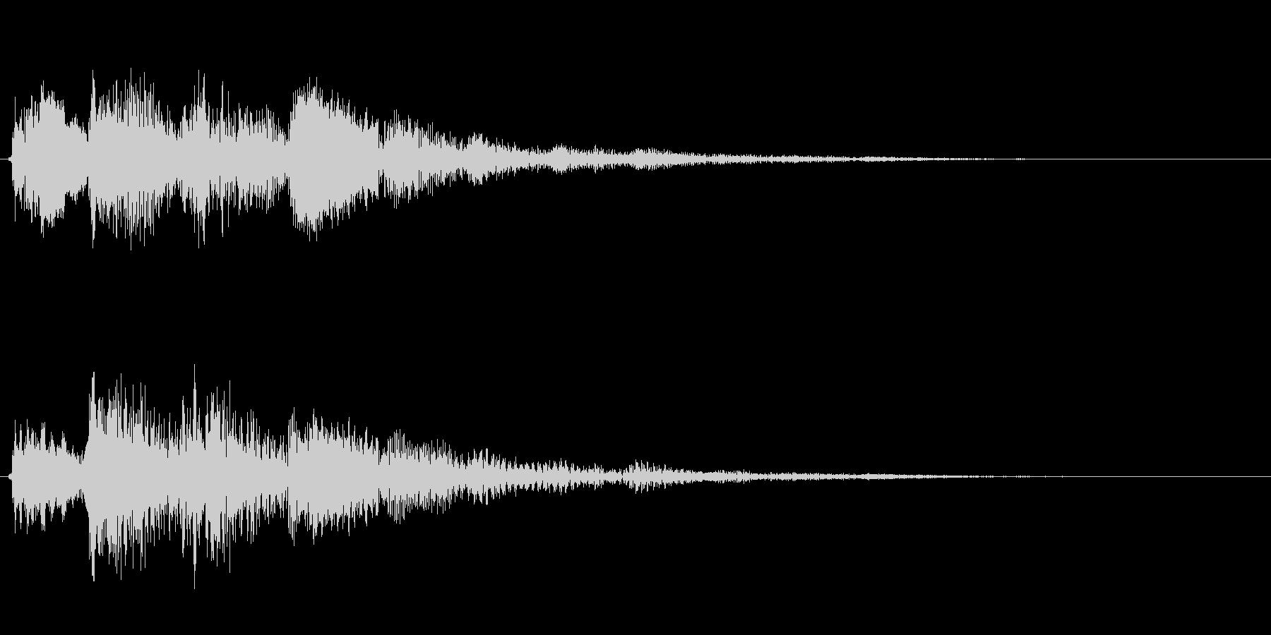 金属系バネ入り決定音(2音)低音の未再生の波形