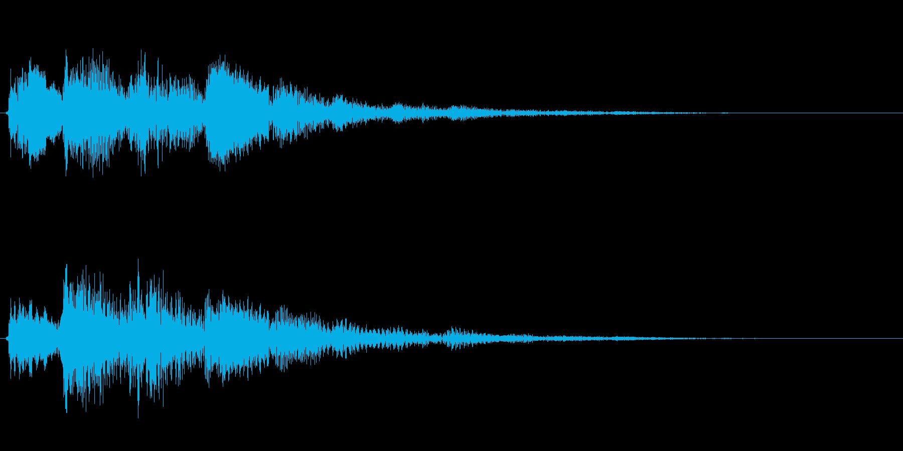 金属系バネ入り決定音(2音)低音の再生済みの波形