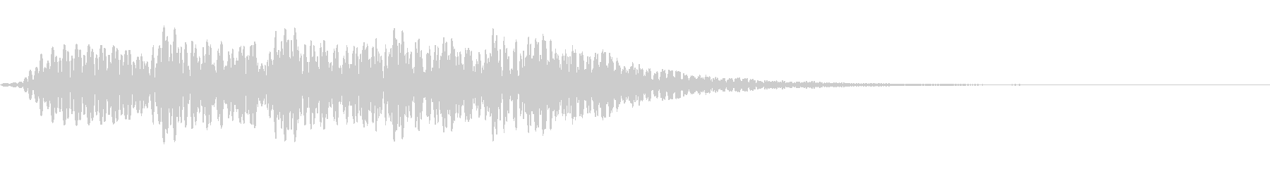 ラインナップ音の未再生の波形