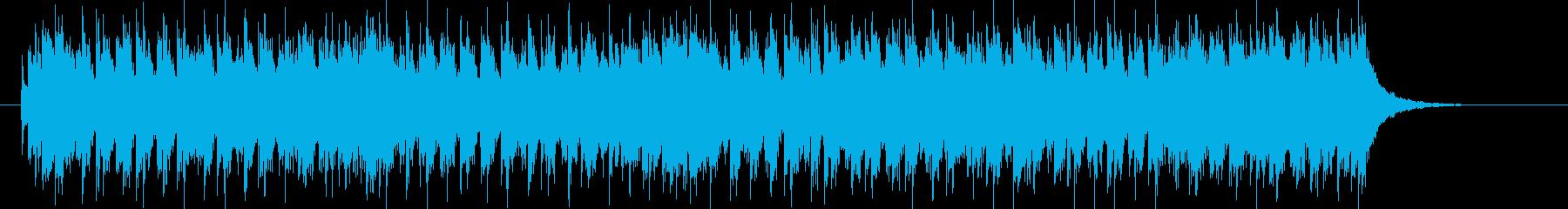 疾走感のある明るい音楽の再生済みの波形