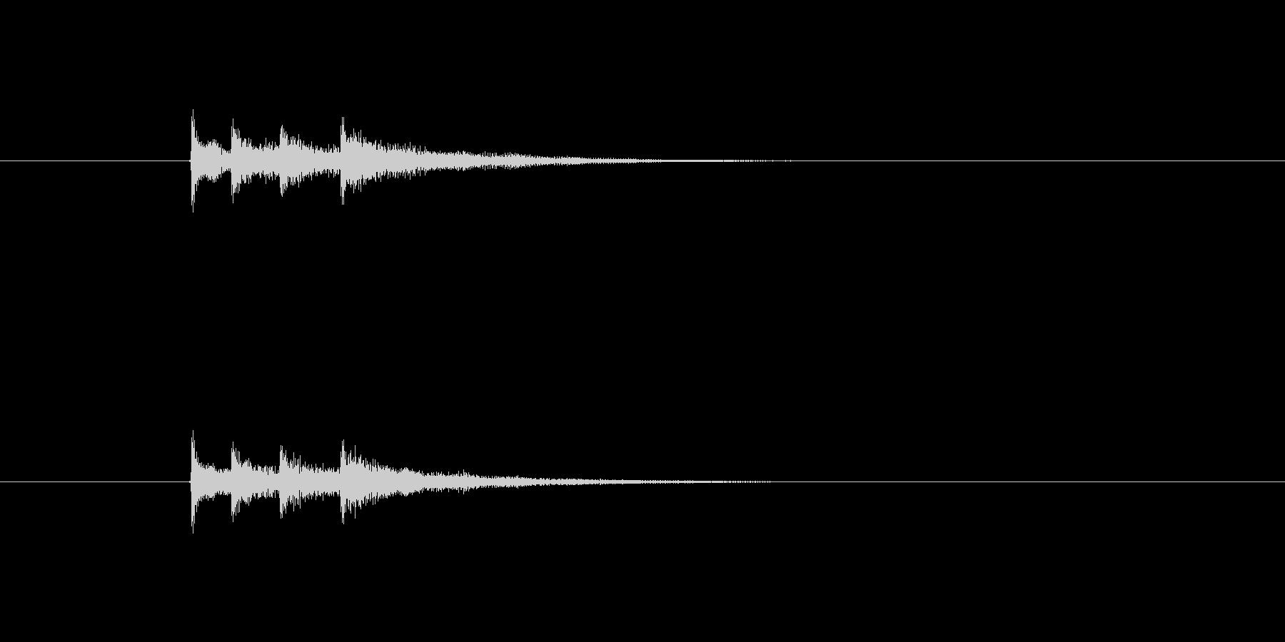 琴を使った和風着信音の未再生の波形