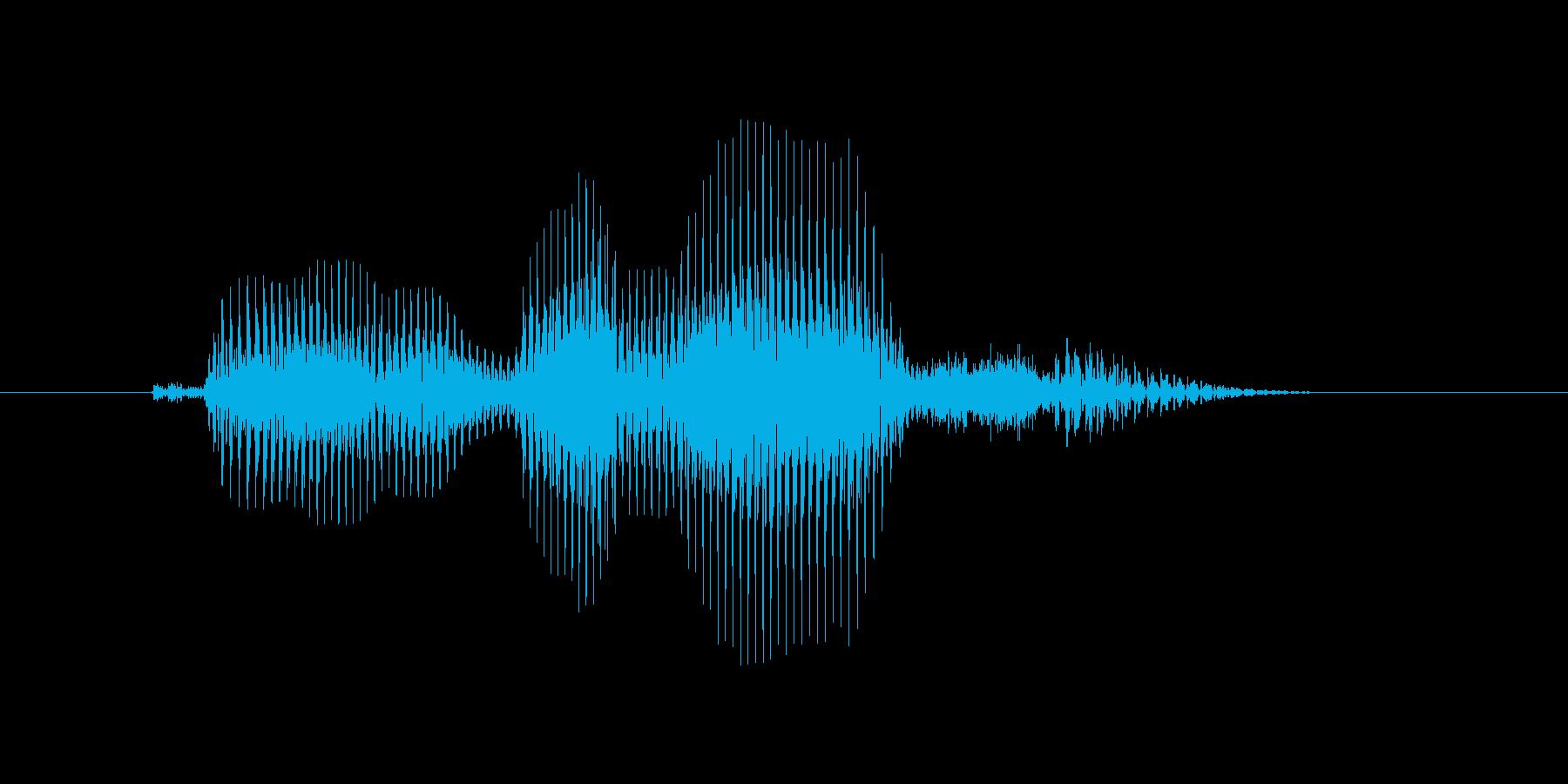 コンビネーションの再生済みの波形