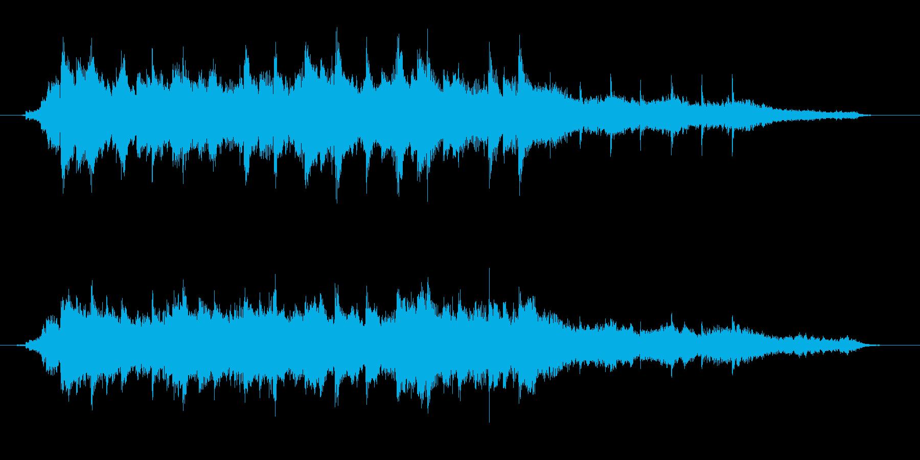 爽やかなピアノ曲の再生済みの波形