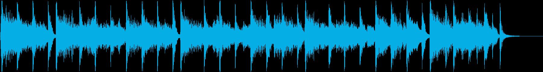 80年代風アメリカンポップジングルの再生済みの波形