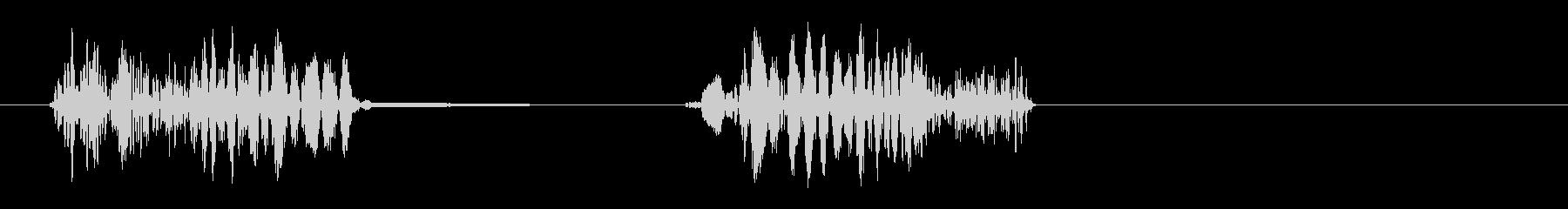 ビュシュ(接触の音)の未再生の波形