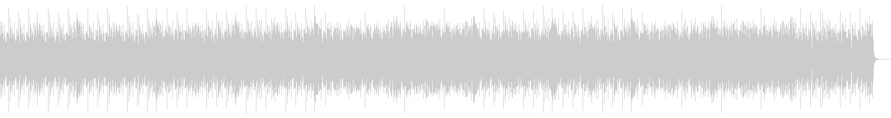 ピコピコシンセのアップテンポな曲の未再生の波形
