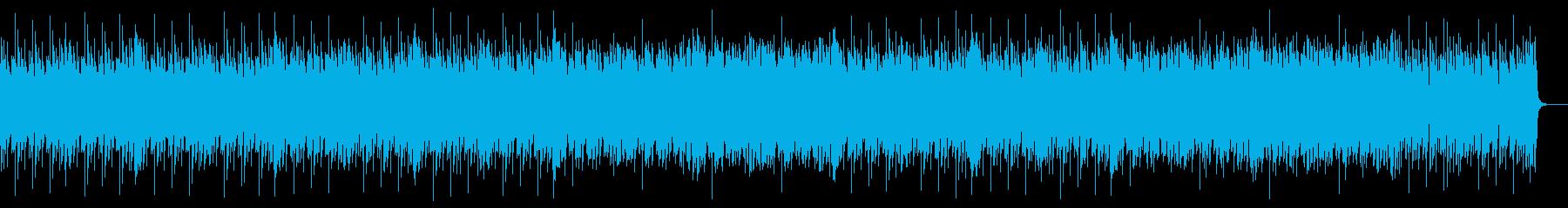 ピコピコシンセのアップテンポな曲の再生済みの波形