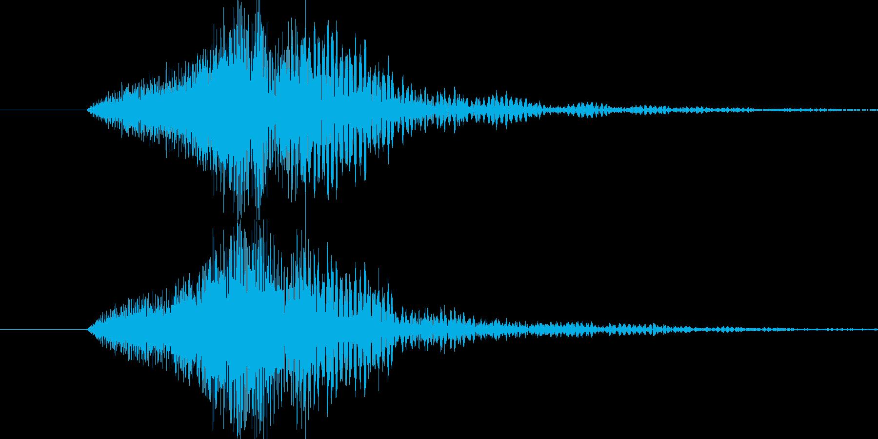 かっこいいおしゃれなロゴサウンドの再生済みの波形