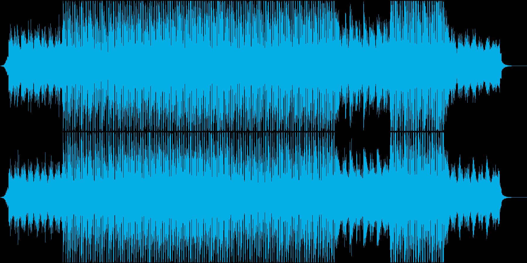 CM映像向け 切ないテック系トラックの再生済みの波形